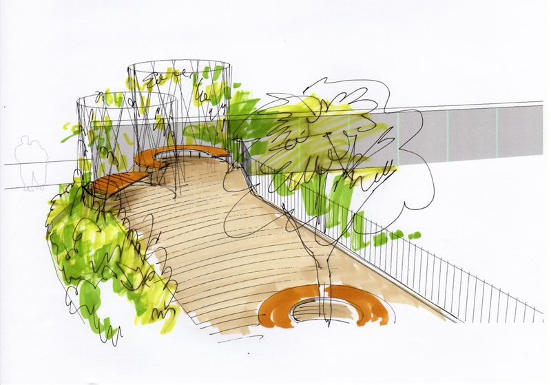 Giardino degli orti - prospetto