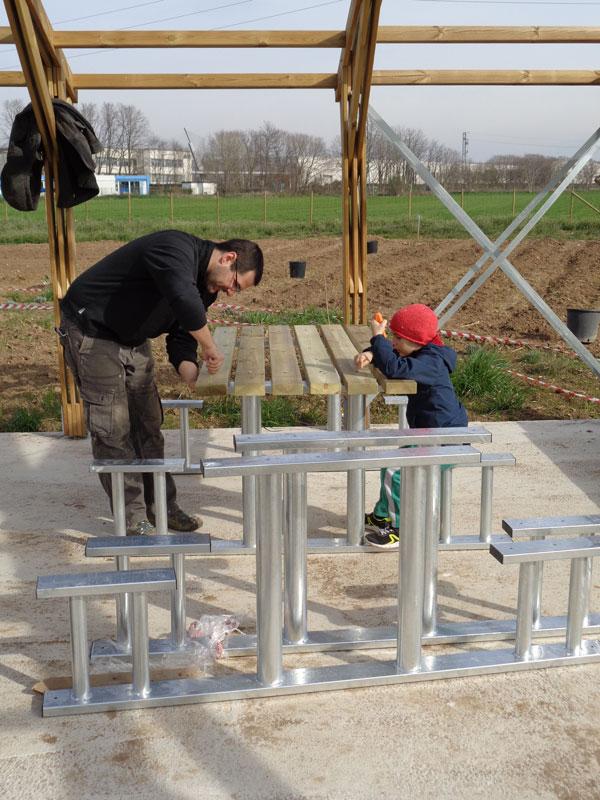 il montaggio dei tavoli